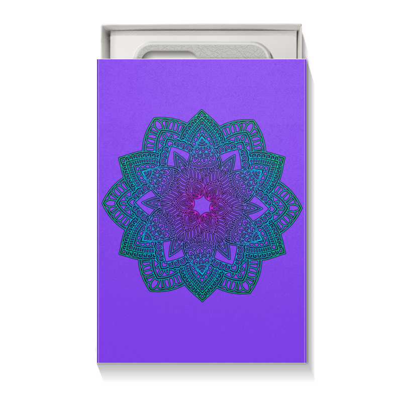 Printio Мандала на фиолетовом майка борцовка print bar янтра на фиолетовом фоне