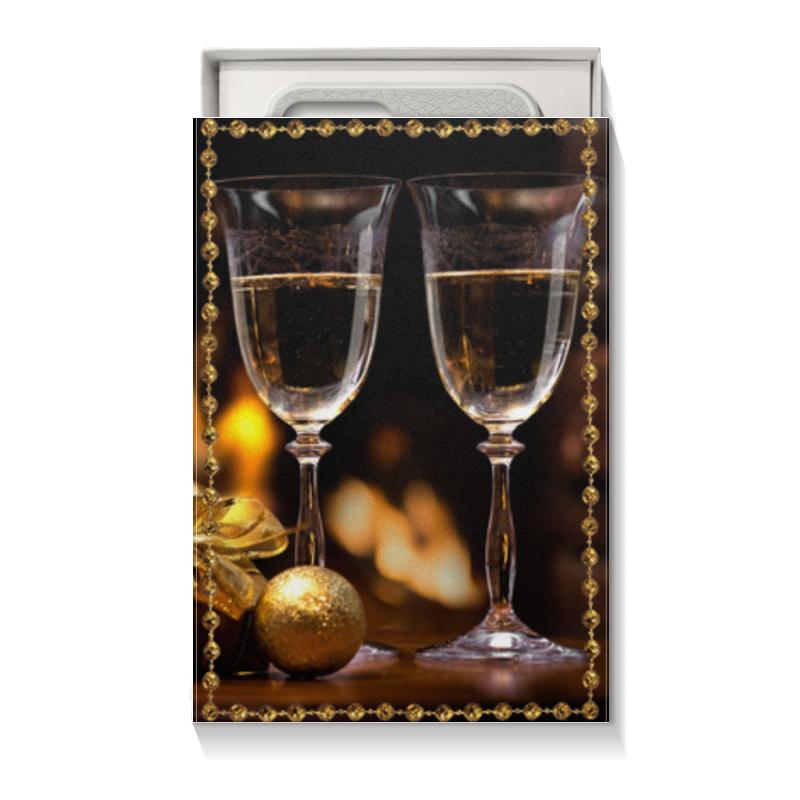 Подарочная коробка малая (пенал) Printio Шампанское фон для презентации черный