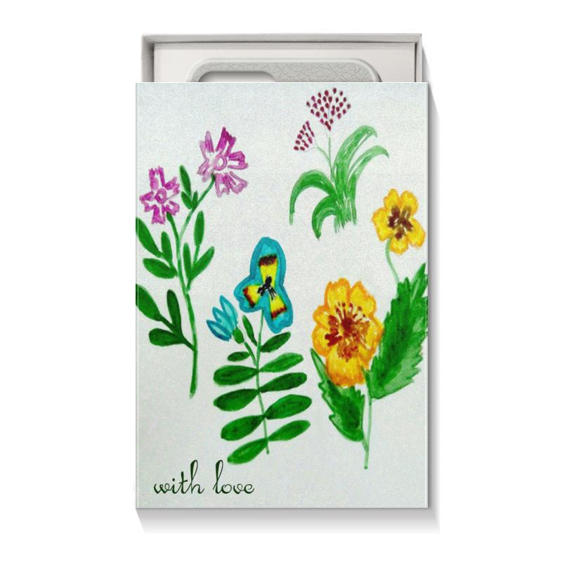 Коробка для чехлов Printio Полевые цветы блокнот кофемана нежные цветы
