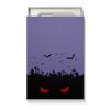 "Коробка для чехлов ""Взгляд оттуда"" - хэллоуин, рисунок, взгляд, летучие мыши, кладбище"