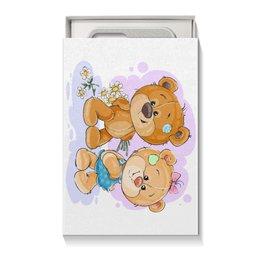 """Коробка для чехлов """"Влюблённые медвежата"""" - сердца, дружба, поцелуй, день валентина, влюблённые"""