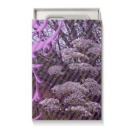 """Коробка для чехлов """"Розово-лиловая фантазия."""" - цветы, узор, фантазия, лиловый, полевые цветы"""