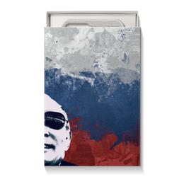 """Коробка для чехлов """"Путин"""" - очки, патриот, флаг, путин, putin"""