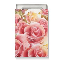 """Подарочная коробка малая (пенал) """"Букет роз"""" - цветы, розы"""