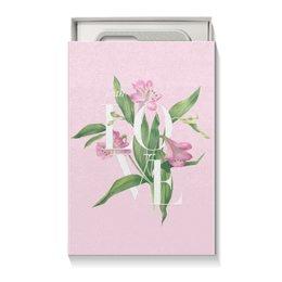 "Коробка для чехлов ""With love"" - pink, акварель, watercolor flowers, цветы, любовь"