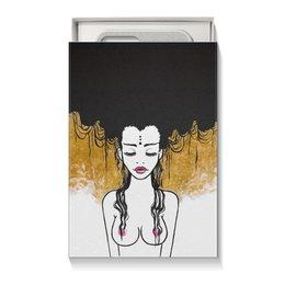"""Коробка для чехлов """"Golden (vol.2)"""" - любовь, девушка, рисунок, золотой, релакс"""