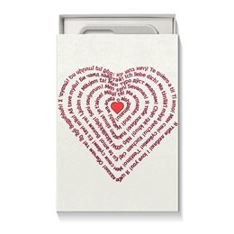 "Коробка для чехлов ""Я тебя люблю (для подарка)"" - праздник, любовь, надписи, орнамент, подарок"