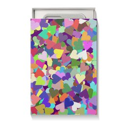 """Коробка для чехлов """"Орнамент Яркие сердечки"""" - праздник, любовь, орнамент, подарок, абстракция"""