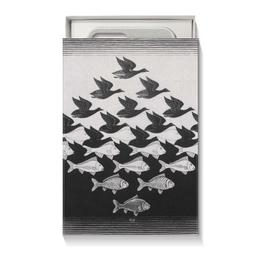 """Коробка для чехлов """"Черно белая Рыбы Птицы"""" - арт, птицы, черно-белый"""