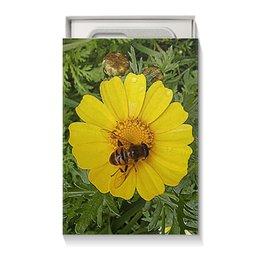 "Коробка для чехлов ""Медовое солнце."" - лето, цветок, насекомое, насекомое на цветке, макро мир"