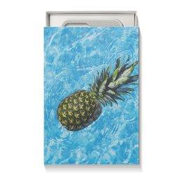 """Коробка для чехлов """"Без названия"""" - лето, цветы, фрукты, ананас, сочный ананас"""