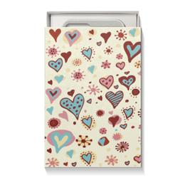 """Коробка для чехлов """"Сердца"""" - сердца, день св валентина"""