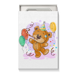 """Коробка для чехлов """"Мишка Тэдди"""" - медвежонок, игрушка, праздничный, подарочный, мишка тэдди"""