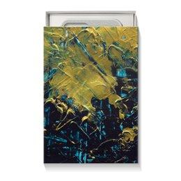 """Коробка для чехлов """"Abstract"""" - разводы, абстракция, тренд, живопись, золотой"""