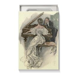 """Коробка для чехлов """"День Святого Валентина"""" - настроение, картина, винтаж, 14фев, harrison fisher"""