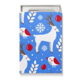 """Коробка для чехлов """"Олени"""" - новый год, олень, снежинки"""