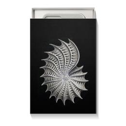 """Коробка для чехлов """"Nautilus, Ernst Haeckel"""" - картина, черно-белый, ракушка, красота форм в природе, эрнст геккель"""