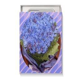 """Коробка для чехлов """"Васильки."""" - цветы, букет, василек, васильки, цветник"""