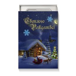 """Коробка для чехлов """"рождество"""" - стиль, домик, снежинки, санта, сани"""