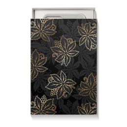 """Подарочная коробка малая (пенал) """"Листья"""" - листья, природа"""