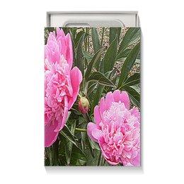 """Коробка для чехлов """"Нежные пионы."""" - цветы, нежность, пионы, пион, розовый пион"""