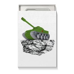 """Коробка для чехлов """"С 23 февраля!"""" - 23 февраля, день защитника отечества, танк, февраль, прадник"""
