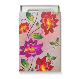 """Подарочная коробка малая (пенал) """"Огненные цветы"""" - цветы"""