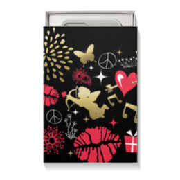 "Подарочная коробка малая (пенал) ""Валентинка"" - сердце, любовь, губы, валентинка"