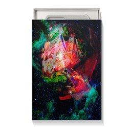 """Коробка для чехлов """"Галактическая избенка"""" - коллаж, яркий, акварель, домики, фантазийный пейзаж"""