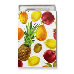 """Коробка для чехлов """"Фруктовое ассорти"""" - фрукты, ананас, киви, лимон, гранат"""