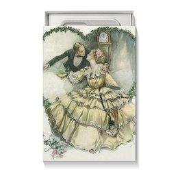 """Коробка для чехлов """"Винтажные влюбленные"""" - сердце, любовь, 14 февраля, valentine's day, день влюбленных"""
