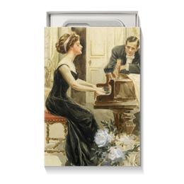"""Коробка для чехлов """"Учительнице музыки"""" - музыка, арт, 8 марта, ко дню влюбленных, harrison fisher"""