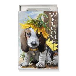 """Коробка для чехлов """"Собака"""" - цветок, собака, животное"""