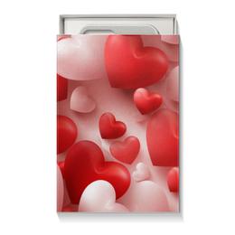 """Подарочная коробка малая (пенал) """"сердца"""" - сердце, стиль"""