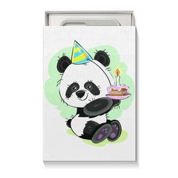 """Коробка для чехлов """"Панда поздравляет!"""" - панда, подарок, день рождения, медвежонок, праздничный"""
