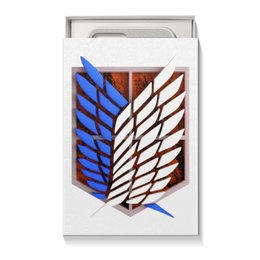 "Коробка для чехлов ""Крылья свободы"" - аниме, атака титанов, крылья свободы, разведкорпус, wings of freedom"