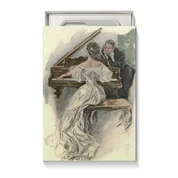 """Коробка для чехлов """"Музыкальному работнику"""" - музыка, арт, день святого валентина, 8 марта, harrison fisher"""