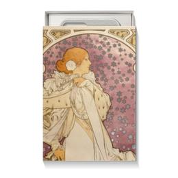 """Коробка для чехлов """"Любимой женщине"""" - девушка, 14 февраля, 8 марта, подарок, альфонс муха"""