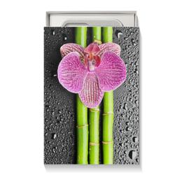 """Коробка для чехлов """"Черные капли"""" - цветы, 8 марта, подарок, маме, орхидея"""