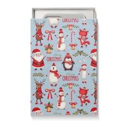 """Коробка для чехлов """"Новый Год"""" - праздник, новый год, дед мороз, снеговик"""