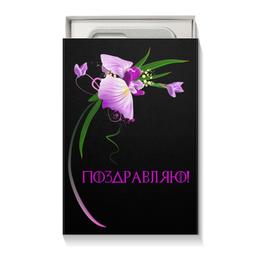 """Коробка для чехлов """"Черная"""" - цветы, 8 марта, подарок, орхидея, день влюбленных"""