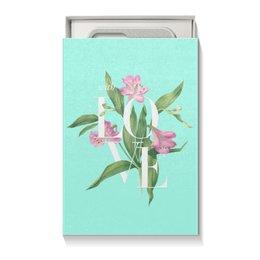 "Коробка для чехлов ""With love"" - watercolor flowers, любовь, цветы, акварель, blue"