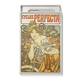 """Коробка для чехлов """"Cycles Perfecta Альфонса Мухи"""" - арт, девушка, 14 февраля, 8 марта, альфонс муха"""