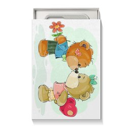 """Коробка для чехлов """"Влююлёггын медвежата"""" - любовь, сердца, поцелуй, день валентина, день влюблённых"""