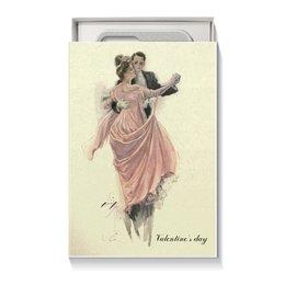 "Коробка для чехлов ""Вальс влюбленных"" - день святого валентина, 14 февраля, винтаж, valentine's day, день влюбленных"