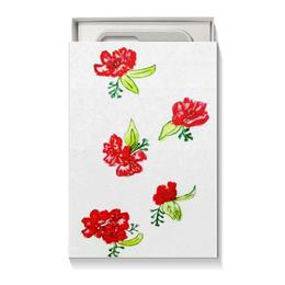 """Коробка для чехлов """"Подарочная Красные цветы"""" - цветы, лето, маки"""