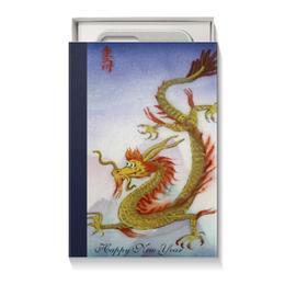 """Коробка для чехлов """"С Новым Годом"""" - новый год, ретро, дракон, восток, япония"""