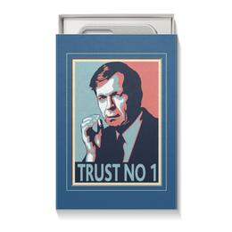 """Коробка для чехлов """"Никому не доверяй"""" - сериал, секретные материалы, курильщик"""