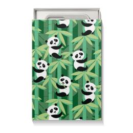 """Подарочная коробка малая (пенал) """"Жизнь панд"""" - узор, животные, панда, лес, бамбук"""