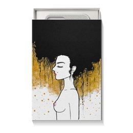 """Коробка для чехлов """"Golden"""" - любовь, девушка, золотой, климт"""